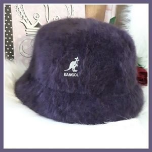 Vtg Kangol Purple Furgora Angora Blend Bucket Hat